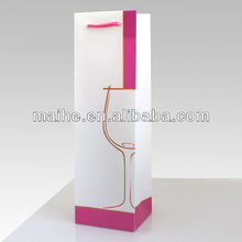 promotional paper wine bag/paper wine packaging bag/wine packing paper bags