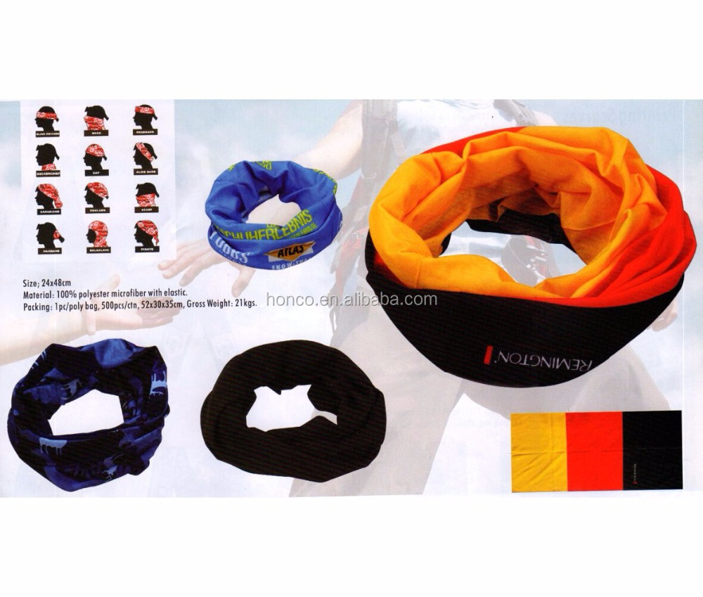 Hot selling cheapest national flag multifunction snood
