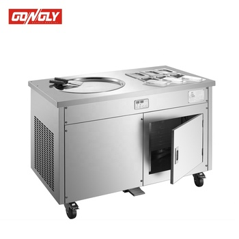 Stainless Steel Fried Ice Cream Roll Machine|Quality Roll Fry Fried Ice Cream Machine