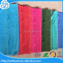 made in china stock lot for sale cheap plain color 70x140 terry 100% cotton fish border jacquard bath towel