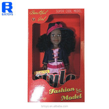 China wholesale fashion black baby solid doll