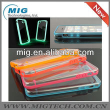 "Glossy Luminous Glow Bumper for iphone 5S case, for iphone 5"" case"