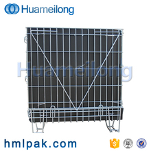 Industrial stackable warehouse steel metal storage cages with pp sheet