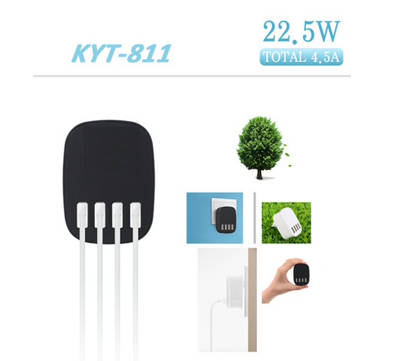 2017 4 Port Usb Wall Charger Travel Usb Home Charger With Smart Ic Chip For Iphone 4 5 6/Samsung Galaxy S7 Edge