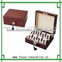 Sales Promotion High-End Handmade Red Monogrammed Watch Box / Watch Boxes For Men Wood high-end wooden watch box