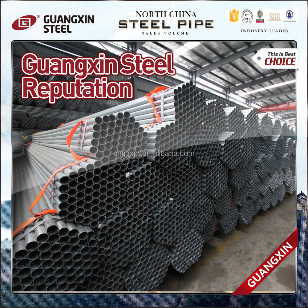 different types of pre-galvanized round steel pipe