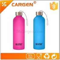 BPA free 880ml large capacity hot sale wide mouth frosted glass water bottle