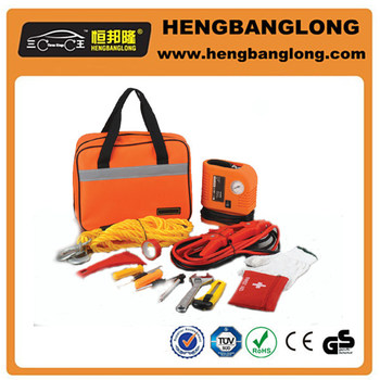 Emergency car kit auto emergency roadside kit