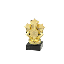 custom high quality gold star metal trophies die casting awards