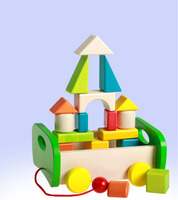 Baby educational toys of colorful wooden block