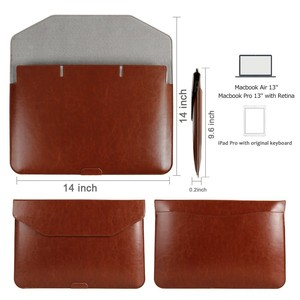 Handmade Leather Laptop Sleeve Carrying Case for Apple iPad Pro