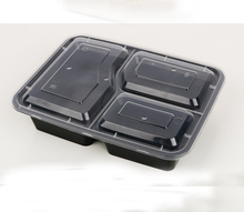 Manufacturer plastic disposable BPA free container / food packaging box / take away tray with dividers