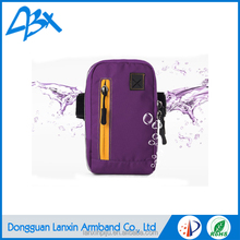 Purple durable strong lycra fabric sports armband waterproof case for samsung galaxy note 3 neo