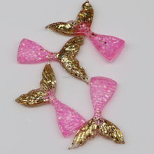 Three Colors with Three Size Glitter Charms Mermaid Tail for Girls Women Necklace Earring Charm Pendant