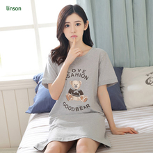 Cartoon pattern printed big size loose ventilate cotton fabric