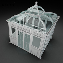 High quality customized prefabricated glass conservatory / aluminum lowes sunrooms with tempered glass