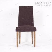 Modern wood design dining room chair with fabric cushion