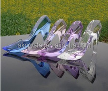 Hot sale lovely wedding gifts or birthday gifts use, crystal shoe table decoration