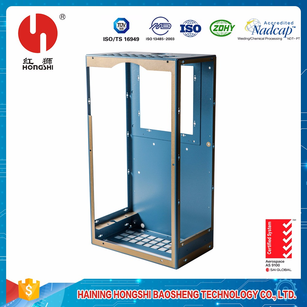 Customized aviation chassis steel welding fabrication cabinet brackets