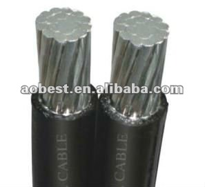 Hot sale !! China low voltage duplex overhead cable 400v 16mm2 for kenya