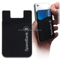 high quality silicone mobile phone card holder wallet case