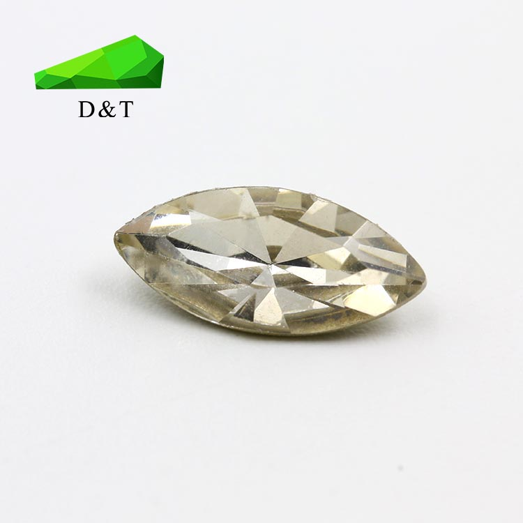 good quality lab created loose rough marquise stone white bottom of the gold plating cubic zirconia