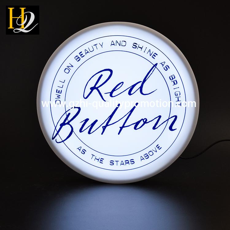 acrylic round shape light box