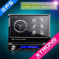 "D714SG - One Din 7"" HD Touch Screen Motorized detachable Unique Xtrons UI Buletooth DVR DVD GPS navigator"