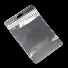 Clear matte ziplock reclosable Jewelry bags pouch with hang hole