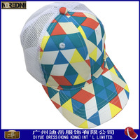 Fashion new design fancy ladies caps and hats printed mesh cap