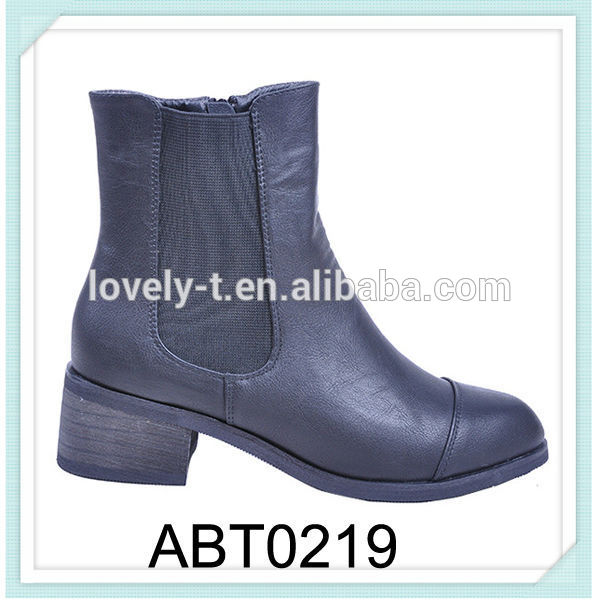 mid heel pointed toe boots with elastic side