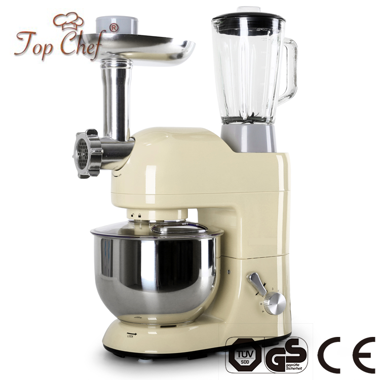 1300W Powerful Food Stand Mixer with Egg Beater and Detachable Aluminum blade