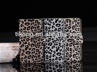 new leopard print flip pouch stand case for samsung note2 N7100 with card slot