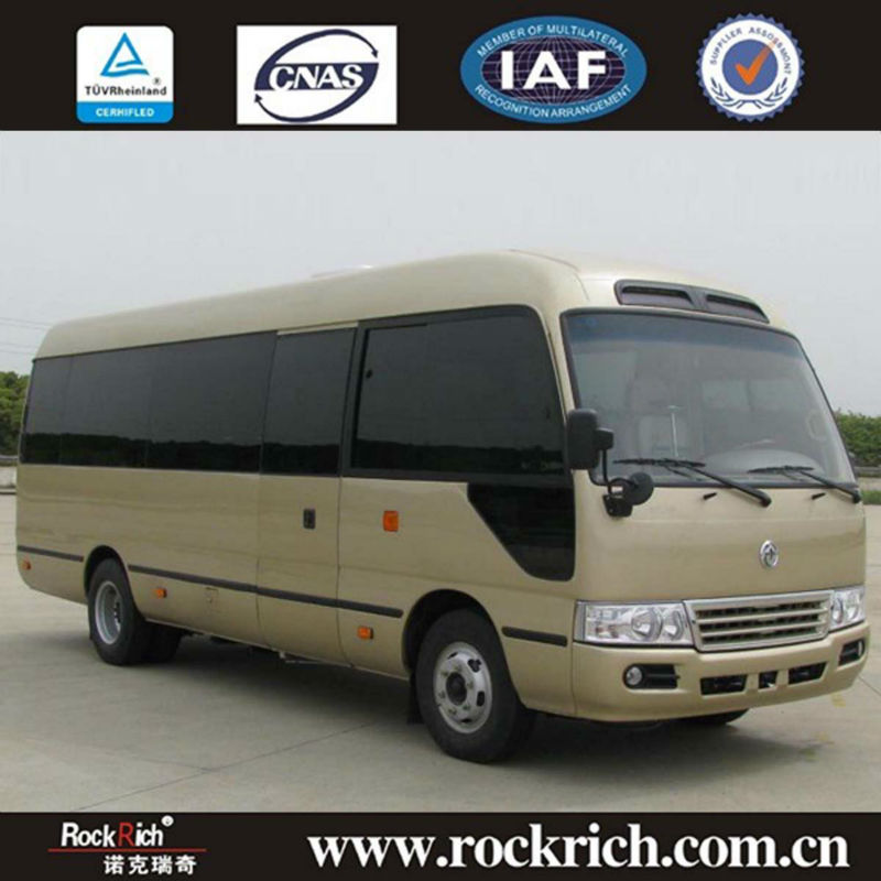 Hot sales 7meter Dongfeng coaster bus minibus with cummins Engine