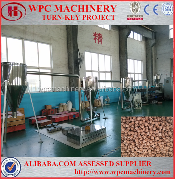 Waste WPC Plastic Profile Recycled Granulating Pelletizer Machine