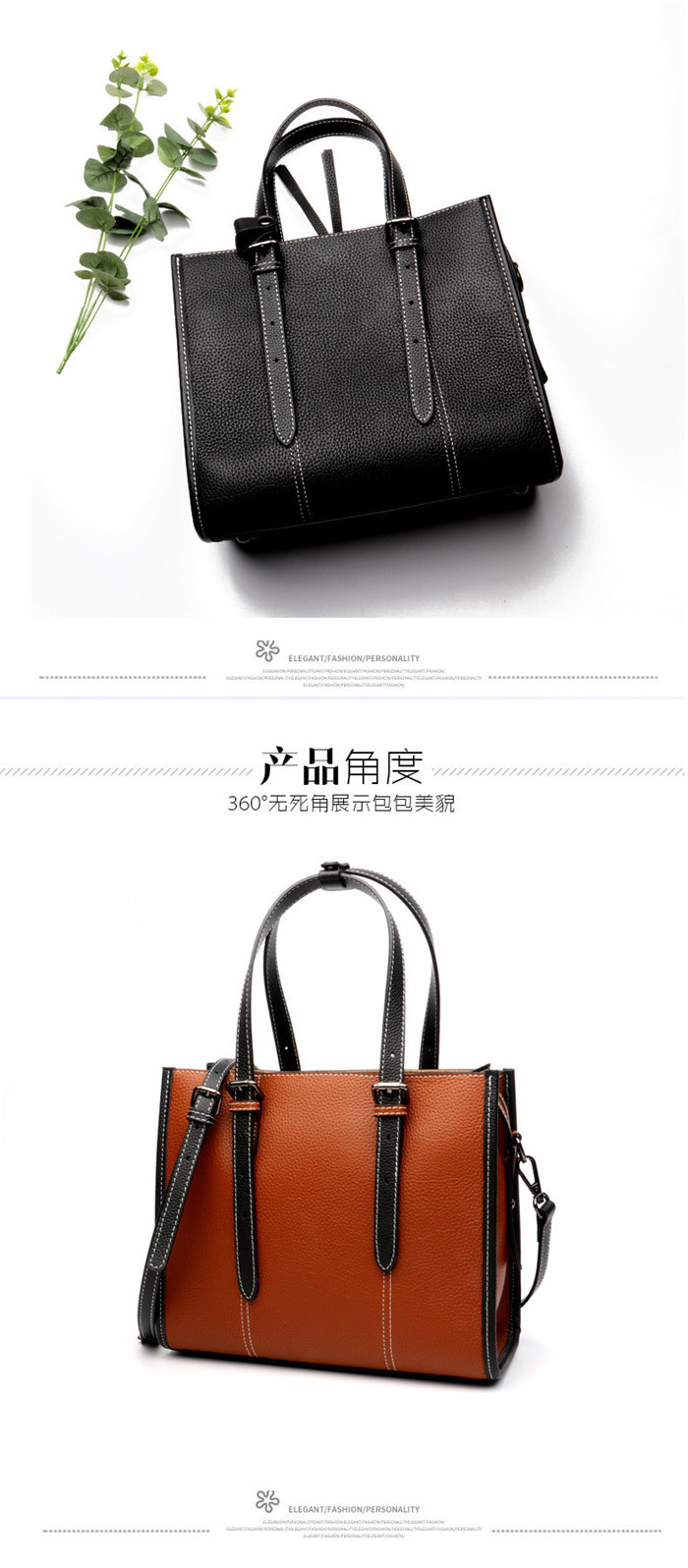 Factory wholesale newest design ladies leather shoulder bag handbag_13