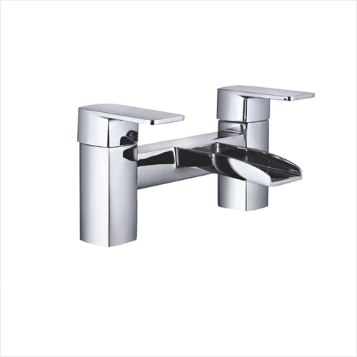 Europe Dual Lever Deck Mounted Waterfall Bathtub Faucet