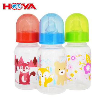 Baby cup 125ML labeled milk bottle PP material
