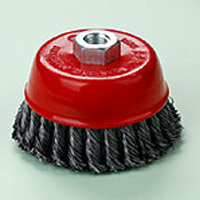 twist knot steel wire cup brush 125mm