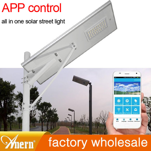 20W Solar Power LED Lamp Post Lights With 3.5m Pole For 8hrs Charging Time