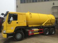 14000L sewage sludge suction truck vacuum sewerage truck