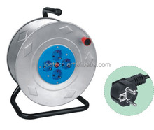 Cable Reels metal drum 4-outlet Euro socket with cable H05VV-F 3G1.5