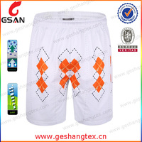 Digital printed custom white shorts mens beach shorts