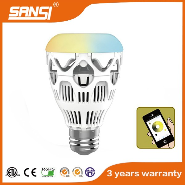 Wifi control RGB led bulb with high lighting efficiency wi fi lamp