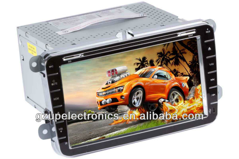 all in one 8.0 inch double din special car stereo DVD player for VW Tiguan 2010 with GPS BT TV steering wheel control