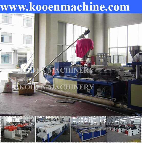 the extrusion line to making machine of PVC celuka foam board production line