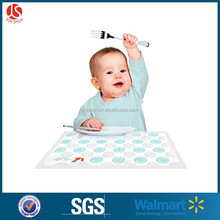 Disposable PE Table Kids Topper / Plastic Placemat for Baby / Recycled Plastic Table Mat