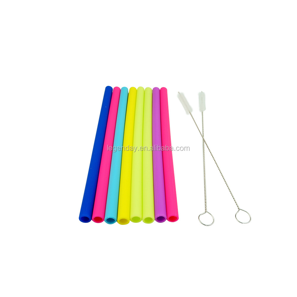 Silicone Drinking Tips and Silencers Comfort Tips Cover For Metal Straws