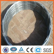 Top selling BTO & CBT low price galvanized concertina razor wire, razor wire fencing, razor blade barbed wire