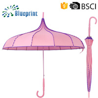 Personalized Design pagoda shaped umbrella polka dot umbrella